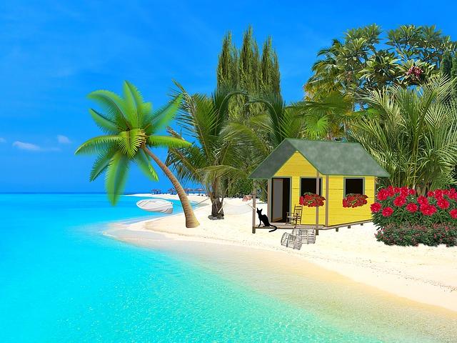 domky na pláži